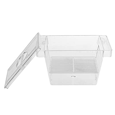 Sharplace Aquarium Ablaichbehälter Fischzucht Isolation Box, 128 x 70 x 72 mm