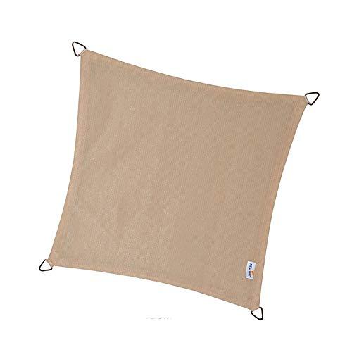 nesling Coolfit Voile D'ombrage (Carré 3,6m x 3,6m x 3,6m x 3,6m, Crème) Protection Solaire, Eau et Vent perméable, Protection UV