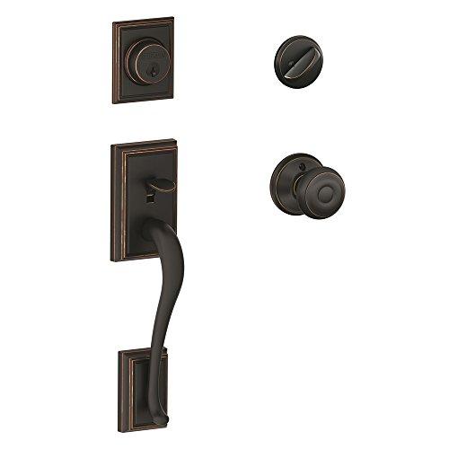 Top door handleset aged bronze for 2020
