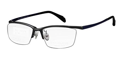 鯖江ワークス(SABAE WORKS) 遠近両用メガネ ハーフリム かっこいい 軽量 EC1029 (遠用度なし 度数+2.50, グレーマット)