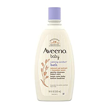 Aveeno Baby Calming Comfort Bath with Relaxing Lavender & Vanilla Scents Hypoallergenic & Tear-Free Formula Paraben- & Phthalate-Free 18 Fl Oz  Pack of 1