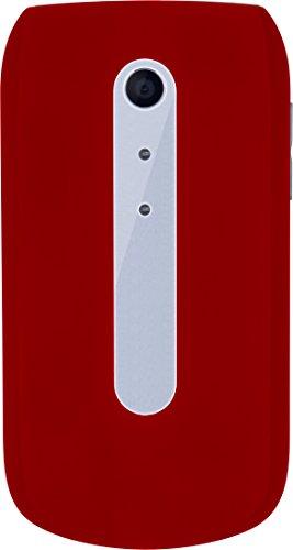 "Beafon Handy im Klappdesign \""SL630\"" (Bluetooth) Rot/Silber"