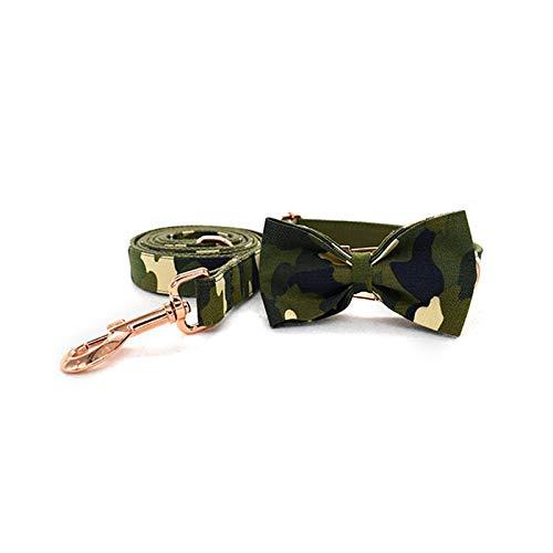 Pet Supplies - Collar de nailon de seguridad ajustable para pequeños medianos y grandes camuflaje verde ejército para animales de compañía, bow collar
