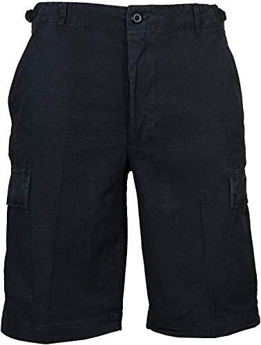 Mil-Tec Short Bermuda prélavage Ripstop (Noir/XXL)