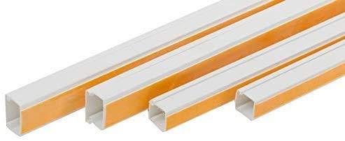 ENVA Cable eléctrico para troncos (10, 40 x 40 mm), color blanco