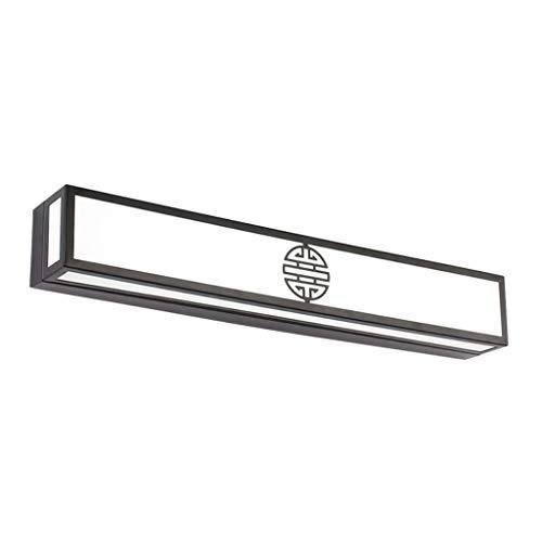 Spiegel voorlamp-LED badkamer badkamerkast spiegel licht Chinese retro slaapkamer kaptafel wandlamp zwart (Editie: White Light)
