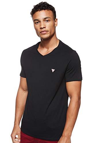 Guess Vn SS 100 Core tee Camiseta, Negro, L para Hombre