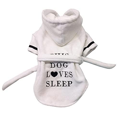 KIFFAY Mascota Perro Albornoz Pijamas para Perros Ropa de Dormir Suave Toalla de baño para Mascotas Ropa para Cachorros Perros Gatos Abrigo Accesorios para Mascotas