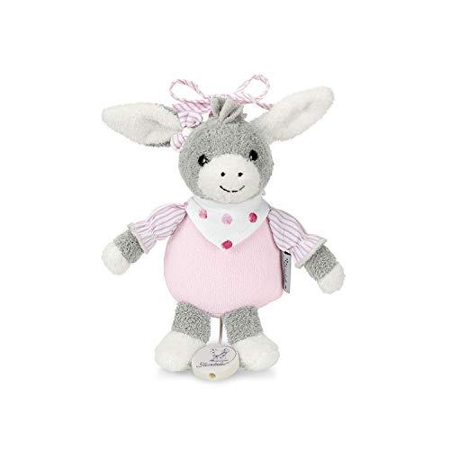 Sterntaler 6001838 Mädchen Spieluhr, Stofftier Esel Emmi Girl, Integriertes Spielwerk, Größe: S, Grau/Rosa
