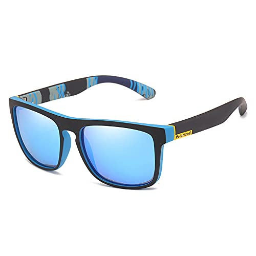 Moda Gafas De Sol Polarizadas De Marca De Lujo, Gafas De Sol para Conducción De Aviación, Gafas De Sol Masculinas para Hombres, Diseño Retro Y Barato, Azul