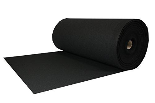 Tukan-tex (13,8€/m) Filz, Taschenfilz, Filzstoffe 0,5lfm Meterware 4mm stark, 1m breit imprägniert (Schwarz)