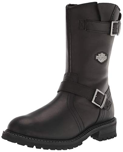 HARLEY-DAVIDSON FOOTWEAR Men's Stahl Motorcycle Boot, BLACK, 10