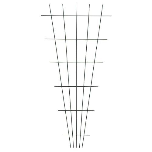 Xclou Gitterspalier V-Form in Grün, wetterfestes Metallspalier kunststoffbeschichtet, Rankgitter gesintert, Drahtgitter inklusive Dübel und Schrauben, Maße: ca. B 10 - 75 cm x H 150 cm