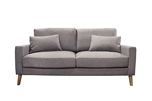Meubletmoi - Sofá de tela gris – Grizzly