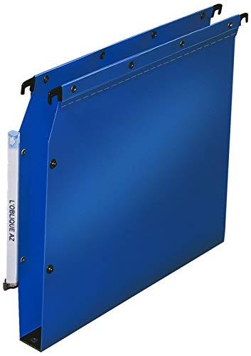 Elba Ultimate PP Lot de 10 Dossiers Suspendus en Polypro Opaque pour Armoire Fond 30mm Bleu