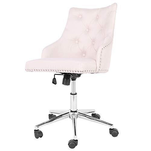 Sillas de escritorio, ergonómicas para escritorio, silla ejecutiva suave y ajustable con respaldo giratorio de 360°, silla giratoria con base cromada y ruedas para casa, oficina, d