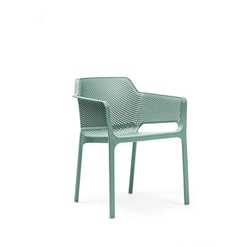 Unbekannt Nardi - Net Armlehnstuhl - Mint - Raffaello Galiotto - Design - Gartenstuhl - Terrassenstuhl