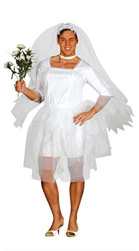 FIESTAS GUIRCA Disfraz de Fiesta de Despedida de Soltero de Novia para Hombre Adulto Talla M 48-50