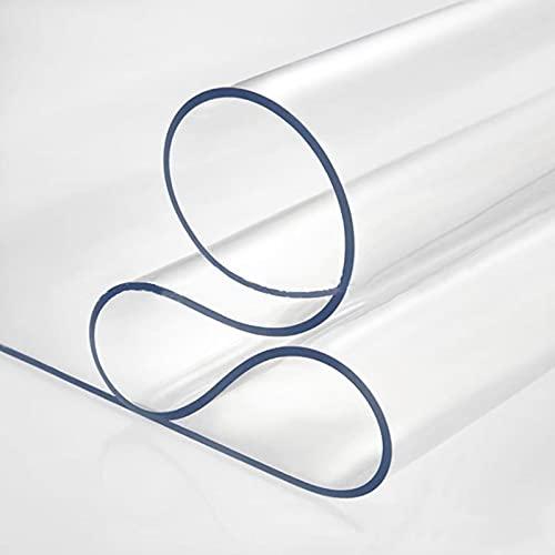 MAOYUAN Mantel de PVC Transparente, Mantel Transparente, Mantel de PVC, Impermeable, a Prueba de Aceite, Resistente al Desgaste, Antideslizante, fácil de Limpiar, Personalizable
