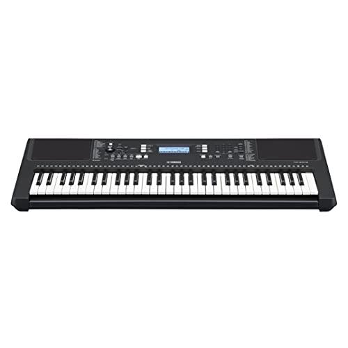 Yamaha Digital Keyboard PSR-E373 - Tastiera Digitale Portatile e Versatile, con 61 Tasti Dinamici Sensibili al Tocco e Suoni Strumentali di Alta Qualità, adatta per Principianti, Nero