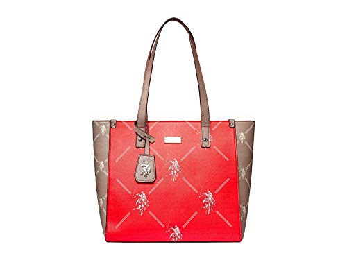 U.S. POLO ASSN. Color-Block Signature Tote Red One Size