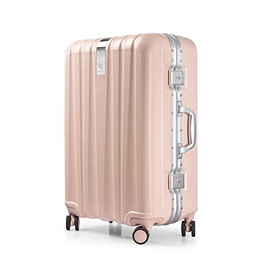 Maleta de aleación de aleación de aleación de Equipaje Carretilla de Viaje Caja Fuerte Ordenador Personal Ruedas de Spinner rodante de cáscara TSA Cerrar con Llave (Color : C, Luggage Size : 24')