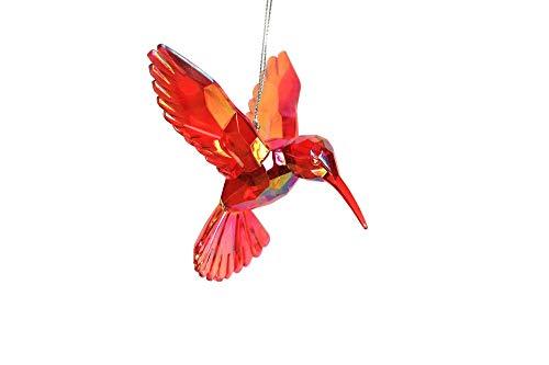 Gisela Graham Bright Red Acrylic Hummingbird Hanging Decoration
