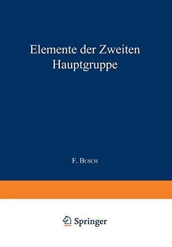 Elemente der Ƶweiten Hauptgruppe: Beryllium · Magnesium · Calcium · Strontium · Barium · Radium und Isotope (Handbuch der analytischen Chemie Handbook of Analytical Chemistry (3/2/2a))