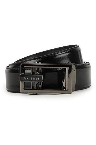 Van Heusen Men's Leather Belt (VHBLERGFF000027_Black_XL)