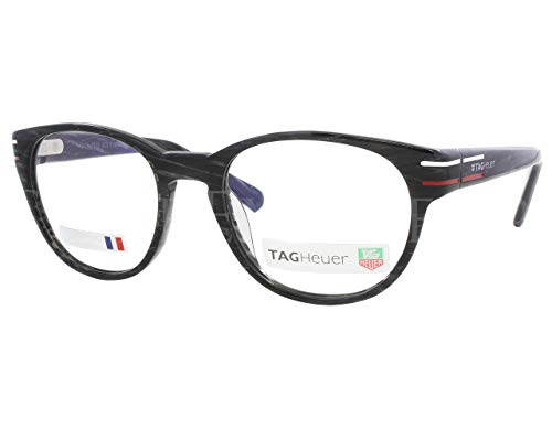 Tag Heuer Phantomatik TH0532 Eyeglasses 51-21-140 Black Carbon Effect w/Demo Clear Lens 003 TH 0532