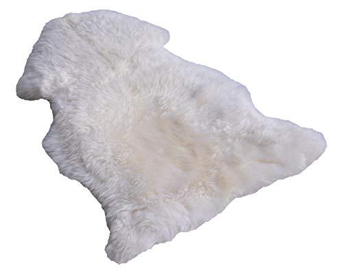 Naturasan Lammfell/Schaffell ökologisch gegerbt, Weiß (120-130 cm mit Nähten)