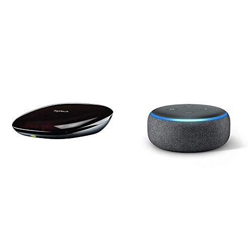 Logitech Harmony Hub, Turns Your Smartphone into a Universal Remote Control - Black & Echo Dot (3rd Gen) - Smart speaker with Alexa - Charcoal Fabric