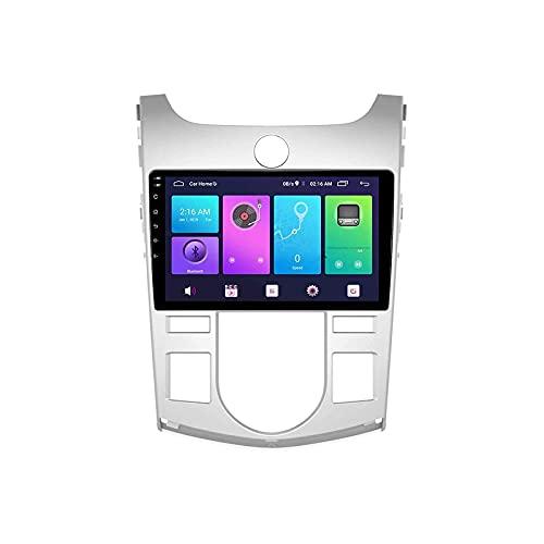 GPS Navegador GPS Coche Estéreo Pantalla táctil Bluetooth FM Am Receptor de Radio Reproductor de Video Musical para KIA Cerato Foret 2009-2017 con Controles de Volante WiFi, 8 núcleos 4G + WiF