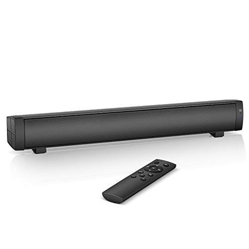 Mini soundbar, Computer Speakers, USB Powered PC Speaker with Bluetooth 5.0 and Aux Input, Mini Desktop Sound Bar for Laptop,Gaming,Ipad,Tablet,Cellphone and More