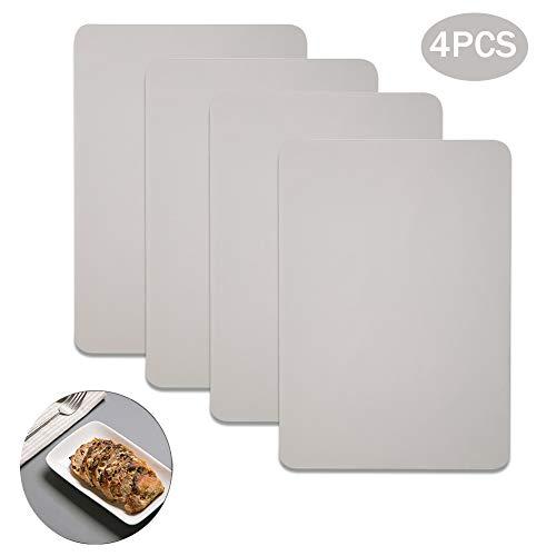 Kitchenmore Tischset Platzset aus Silikon 40 x 30 cm 4er Set rutschfest Abwaschbar Tischsets Edles Platzdeckchen Teller-Unterlagen Teller-Untersetzer Platz-Matten