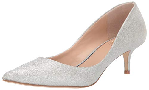 Jewel Badgley Mischka Women's ROYALTY Shoe, Silver Glitter, 10 M US