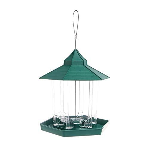 MAXIAOQIN MXQIN Popolare Impermeabile Gazebo Hanging Alimentazione Selvaggio for Uccelli all'aperto for Decorazione del Giardino Can Make Your Pet Bird Eat Better (Color : Green, Size : L)