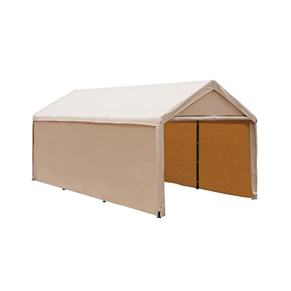 Abba Patio 10 x 20 ft Heavy Duty Beige Carport, Car Canopy Versatile Shelter with...