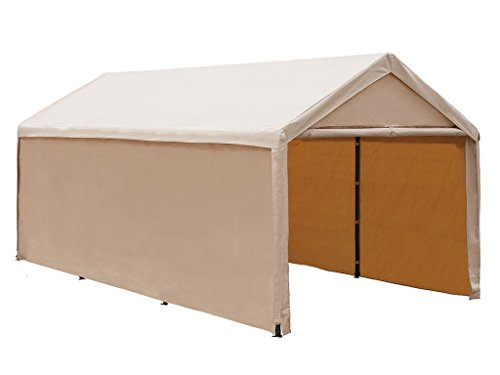 Abba Patio Heavy Duty Carport with Removable Sidewalls Portable Garage Car Canopy Boat Shelter Tent for Party, Wedding, Garden Storage Shed 8 Legs, 10 x 20 Feet,Beige