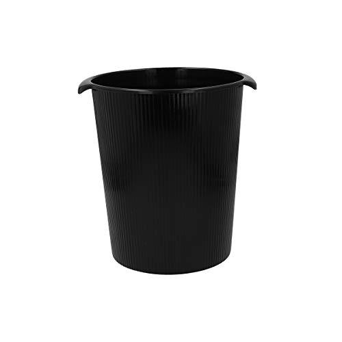 TIPTOP OFFICE Papierkorb, Kunststoff, Schwarz, 12 Liter