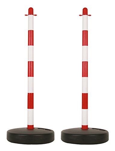 Perel SCP90 - Poste de plástico para cadena de seguridad de dos piezas