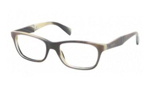 PRADA Montura gafas de ver PR 14PV EAQ1O1 Azul azur/Cuerno a rayas 53MM