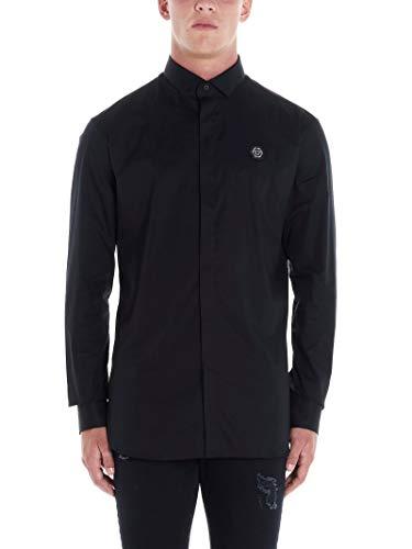 Philipp Plein Luxury Fashion Herren MRP1094PTE012N02 Schwarz Baumwolle Hemd | Herbst Winter 19