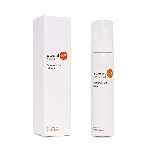 Sweat-Off sensitive Antitranspirant Schaum, Unparfümiert, Weiß, Schwarz, Orange, 75 ml