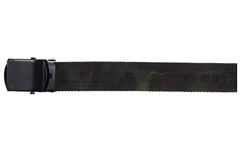 MFH Gürtel mit Metallschloß Koppel Stoffgürtel Länge bis 130 cm verstellbar Breite: 3 cm viele Farben (Woodland)