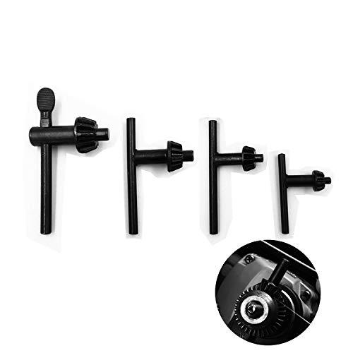 4 verschiedene Größen Bohrfutterschlüssel im Set universal, Zahnkranzbohrfutter - für AEG, Bosch, Fein, Kress, Metabo, 10/13/16/20mm