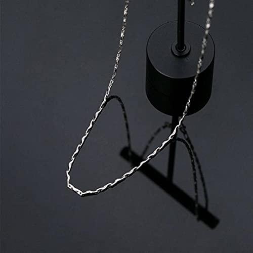 Good dress Cadena de lingote de plata pura S999, collar de cadena única sin collar colgante Ms. 2g, S999