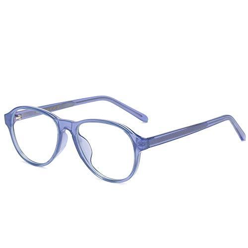 Gafas Bloqueo Luz Azul Azul Vintage Oval Marco 2 Pack Unisex, Claro Filtro De Juego De Computadora De Lente Gafas, Gafas Ópticas De Moda, Regalo De Las Mujeres De Los Hombres, Como Se Muestra
