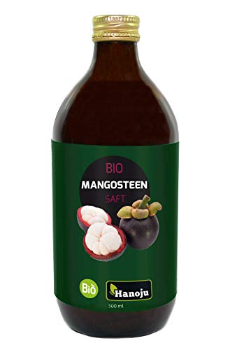 Hanoju Succo di Mangostano Biologico - Naturale, Puro, spremuto a freddo - Conservato in bottiglia...