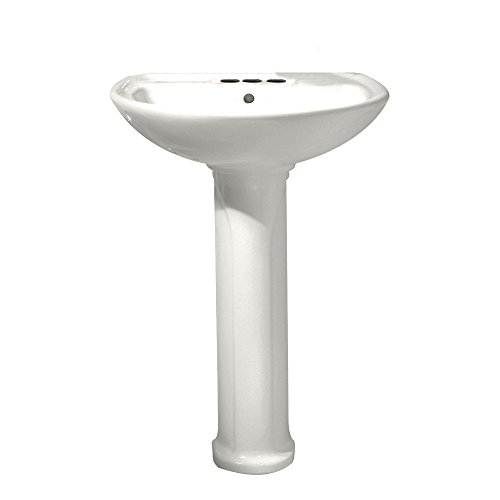American Standard 0236.411.020 Cadet Pedestal Top and Leg with 4-Inch Centerset Holes, White